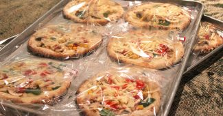 ピザの自然解凍