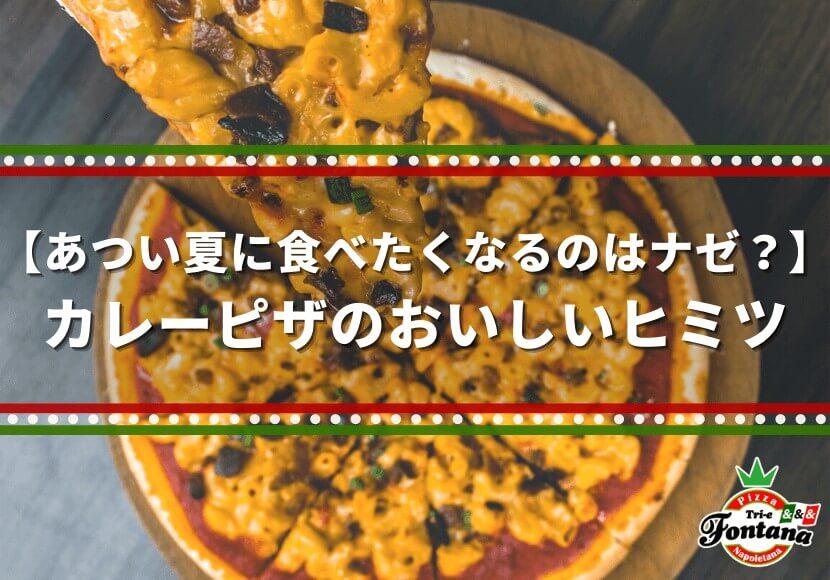 【あつい夏に食べたくなるのはナゼ?】カレーピザのおいしいヒミツ