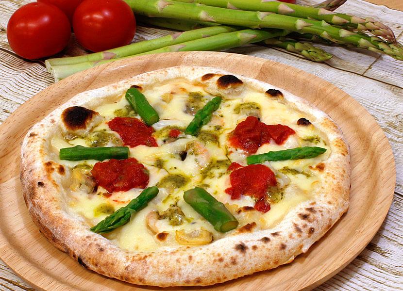 【春のピザまつり】アスパラとシーフードの春サラダピッツァ 7